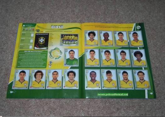 Página com figurinhas do Brasil